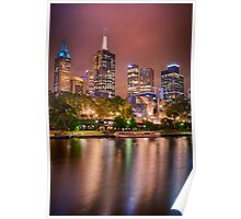 Melbourne Glow -  vertical Poster
