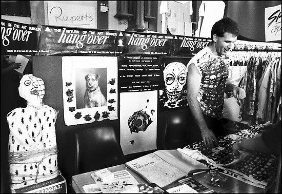 Robert McDonald at the Independant Music Festival Paddington 1983 by ArtUnit