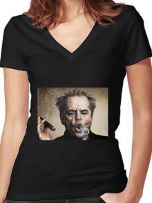 Jack Nicholson Women's Fitted V-Neck T-Shirt