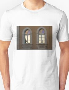 Iridescent Pastels at Sunset - Syracuse Arched Windows T-Shirt