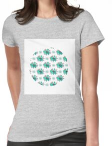 CamomilePattern Womens Fitted T-Shirt