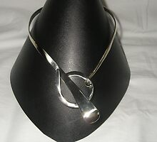 Neckpiece from recycled materials by Brian Cox