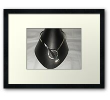 Neckpiece from recycled materials Framed Print