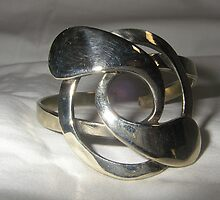 Bangle made from recycled materials by Brian Cox