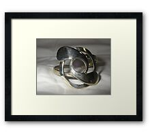 Bangle made from recycled materials Framed Print