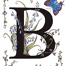 Bluebells and Butterfly by Constance Widen