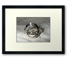 Bangle from recycled materials Framed Print
