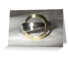 Bangle from recycled materials Greeting Card