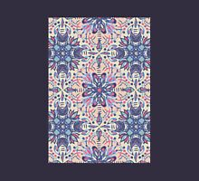 Protea Pattern in Blue, Cream & Coral Womens Fitted T-Shirt