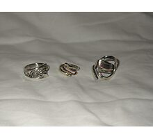 Rings from recycled materials Photographic Print