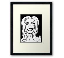 sly grrl 2 Framed Print