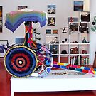 The Rickshaw -- Yarn Bombing -- Designer: Ellen Riley by ChandelierNoir