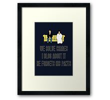 We Solve Crimes Framed Print