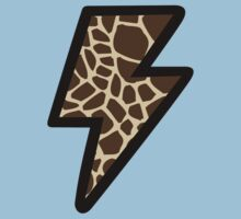 Giraffe Pattern Lightning Bolt by jezkemp