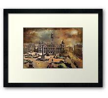 George Square -Glasgow 1900 y Framed Print