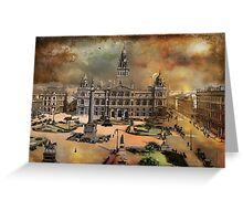 George Square -Glasgow 1900 y Greeting Card