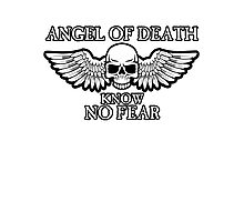 Angel of Death Know No Fear Photographic Print