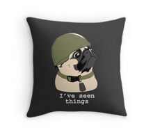 Pug of War Throw Pillow