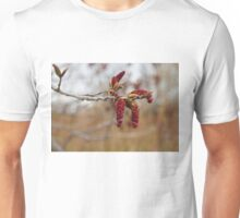 Bright Red New Life in the Forest Unisex T-Shirt