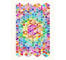 Rainbow Honeycomb with Stars Photographic Print