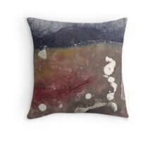 Metallic DNA Throw Pillow