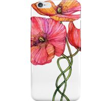 Peach & Pink Poppy Tangle iPhone Case/Skin