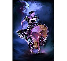 Flamenco in the moonlight Photographic Print