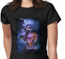 Flamenco in the moonlight Womens Fitted T-Shirt