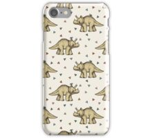 Triceratops & Triangles iPhone Case/Skin