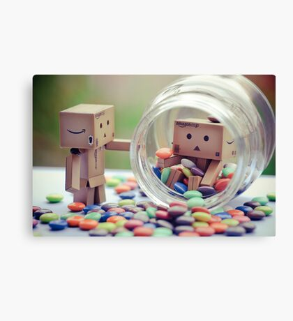 caught in a cookie (sweets) jar... Canvas Print