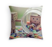 caught in a cookie (sweets) jar... Throw Pillow