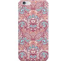 Natural Rhythm - a hand drawn pattern in peach, mint & aqua iPhone Case/Skin