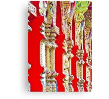 Red Temple Wall Canvas Print