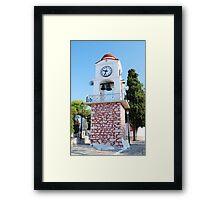 Agios Nikolaos clock tower, Skiathos Framed Print