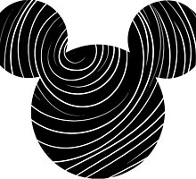 Swirled Mickey Mouse head logo by nemofish