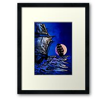 Night meetings Framed Print