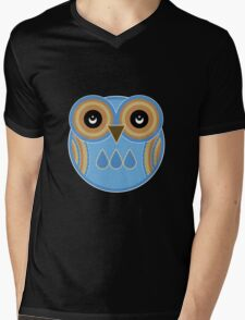 Blue Owl Mens V-Neck T-Shirt
