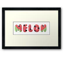 Water Melon Vector text Framed Print