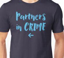 Partners in crime arrow left blue Unisex T-Shirt