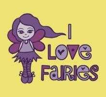 I Love Fairies One Piece - Short Sleeve