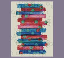Shape Shifting & Shadow Boxing - watercolor stripes & hexagon pattern Kids Tee