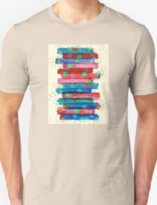 Shape Shifting & Shadow Boxing - watercolor stripes & hexagon pattern Unisex T-Shirt