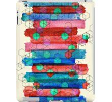 Shape Shifting & Shadow Boxing - watercolor stripes & hexagon pattern iPad Case/Skin