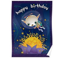 Tachyon Flower - Happy Birthday Poster