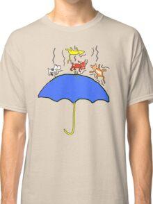Raining Cats and DOGS (blue) T SHIRT/STICKER Classic T-Shirt