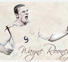 Wayne Rooney portrait by wu-wei