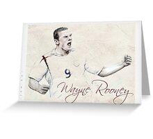 Wayne Rooney portrait Greeting Card