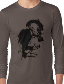 The Lonely Hunter (Ink/Brush Version) Long Sleeve T-Shirt