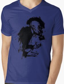 The Lonely Hunter (Ink/Brush Version) Mens V-Neck T-Shirt
