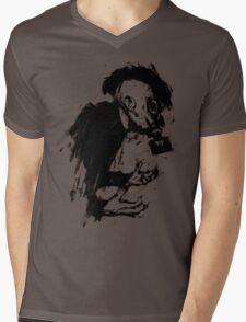 The Lonely Hunter (Ink/Brush Version) Mens V-Neck T-Shirt
